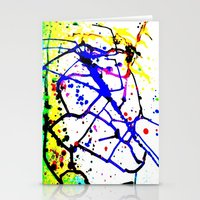 splatter Stationery Cards featuring Splatter by TheAbstractGirl_Jess