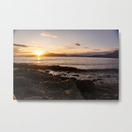 Summer Sunset Over Water Vancouver, British Columbia, Canada Metal Print