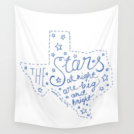 Stars at Night in blue Wall Tapestry