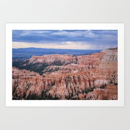Sunset over Hoodoos - Bryce Canyon National Park, Rocky Natural Landscape, Utah Hiking Photography Art Print