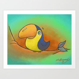 Baby Bird Smiling in the Jungle! Art Print