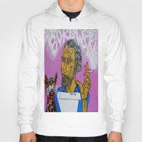 bukowski Hoodies featuring Bukowski by Pluto00Art / Robin Brennan