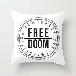 FreeDoom-1 Throw Pillow