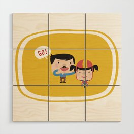 Let's Go! (Yellow Tales Series) Wood Wall Art