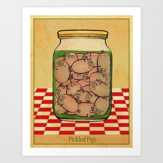 Pickled Pig Revisited Art Print