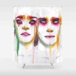 Silence and Echo Shower Curtain