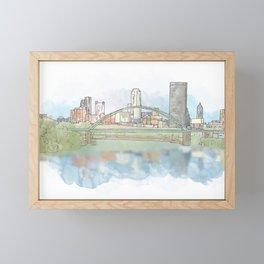 Birmingham Bridge Framed Mini Art Print