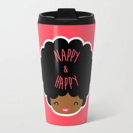 Nappy and Happy Afro Hair Travel Mug
