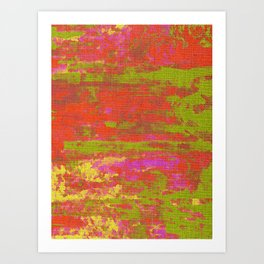 Woven Happiness Fabric Bright And Colorful Art Print