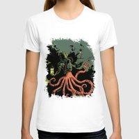 scuba T-shirts featuring tentacle scuba by Sarah Baslaim