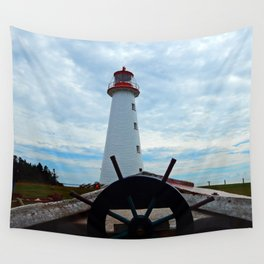Sailing to Point Prim Lighthouse Wall Tapestry