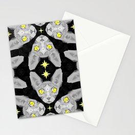 Sphynx Cat Black Pattern Stationery Cards