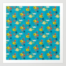 Fishy Paradise Art Print