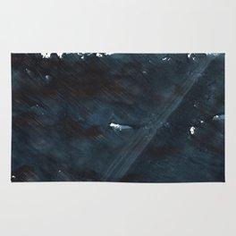 Dark slate gray blurred watercolor pattern Rug