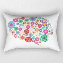 Flower brain Rectangular Pillow