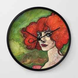 Luisa Casati (after Augustus John) Wall Clock