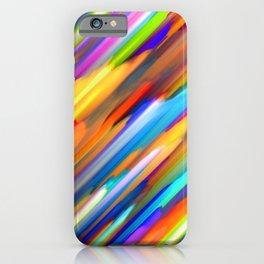 Colorful digital art splashing G391 iPhone Case