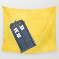 doctor Wall Tapestries featuring 9th Doctor - DOCTOR WHO by LindseyCowley