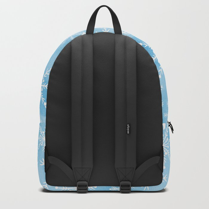 Blue Snowflakes #2 Backpack