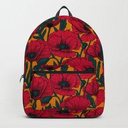 Red poppy garden Backpack