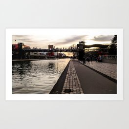 Walking through La Villette Art Print
