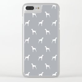 Vizsla minimal basic grey and white dog pattern dog art pet portraits dog breeds Clear iPhone Case