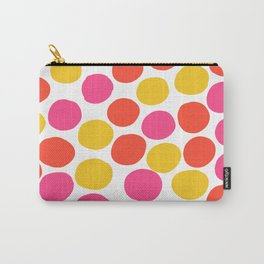 Bunte Punkte 003 / Mid-Century Modern Pattern Of Red, Pink & Yellow Dots Carry-All Pouch