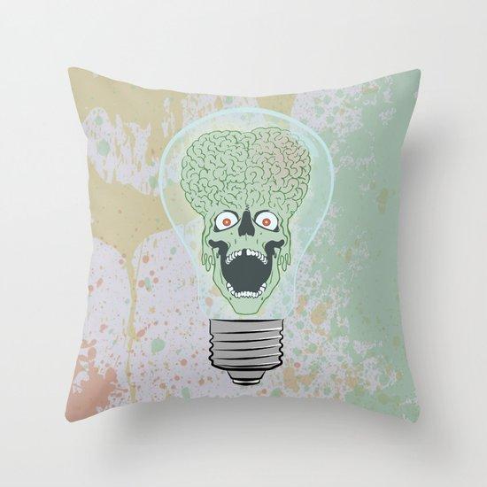 Think Martian  Throw Pillow