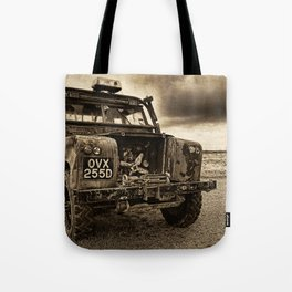 Abandoned Landrover at Dungeness Tote Bag