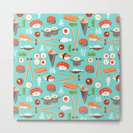 Happy Sushi Metal Print