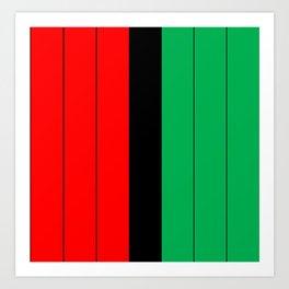 Kwanzaa Red Black Green Stripes Art Print