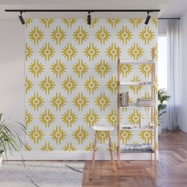 Mid Century Modern Bang Pattern 272 Must Yellow Wall Mural