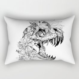 temporary design  dinosaur skeleton with flowers Rectangular Pillow