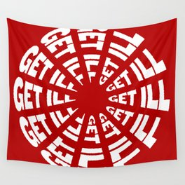 Time to Get Ill Clock - Red Wall Tapestry