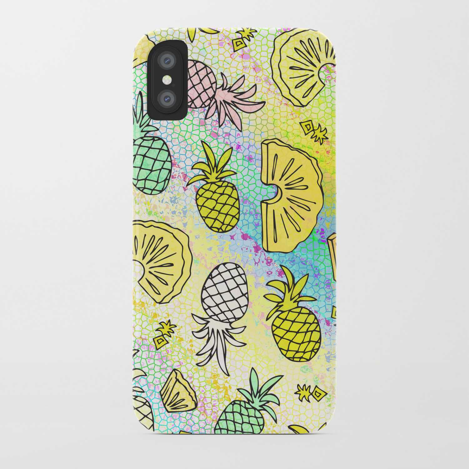 Pineapple Pattern Mobile 2 iphone case