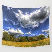 farm Wall Tapestries featuring Summer Farm by David Pyatt