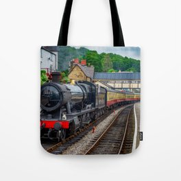 Steam Locomotive Wales Tote Bag