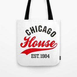 Chicago house est. 1984 Vintage DJ Tote Bag