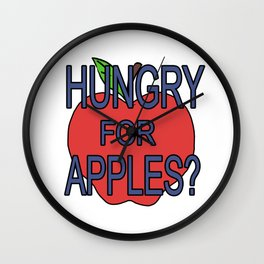hungry fot aples? Wall Clock