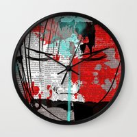 anime Wall Clocks featuring Anime 1 by Del Vecchio Art by Aureo Del Vecchio