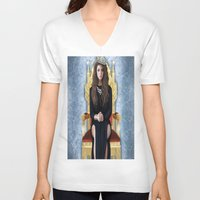 lorde V-neck T-shirts featuring Lorde by Justinhotshotz