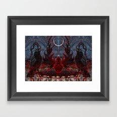 Twilight Garden  Framed Art Print