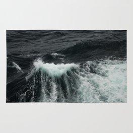 Dark Ocean Wave Rug