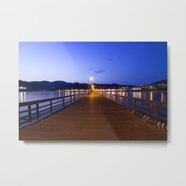 Aavila Beach pier at dusk Metal Print