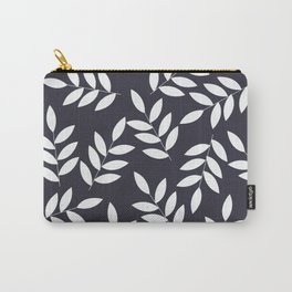 Leaves in Dark Grey Carry-All Pouch