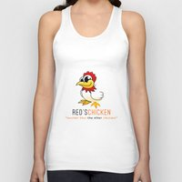 oitnb Tank Tops featuring Red's Chicken | OITNB by Sandi Panda