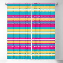 Epcot Color Stripes Blackout Curtain