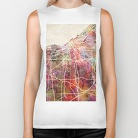 cleveland Biker Tanks featuring Cleveland by MapMapMaps.Watercolors