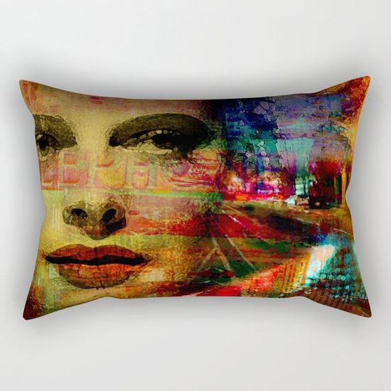 I wait for you below in the street Rectangular Pillow