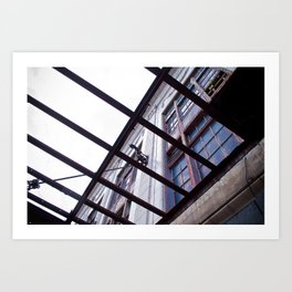 Building in Rehab Art Print